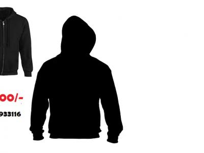 Plain Black Zipper Hoodies